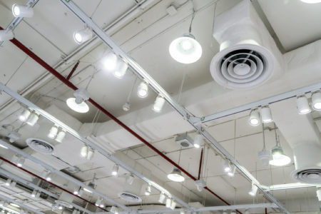 ceiling with air duct and ac