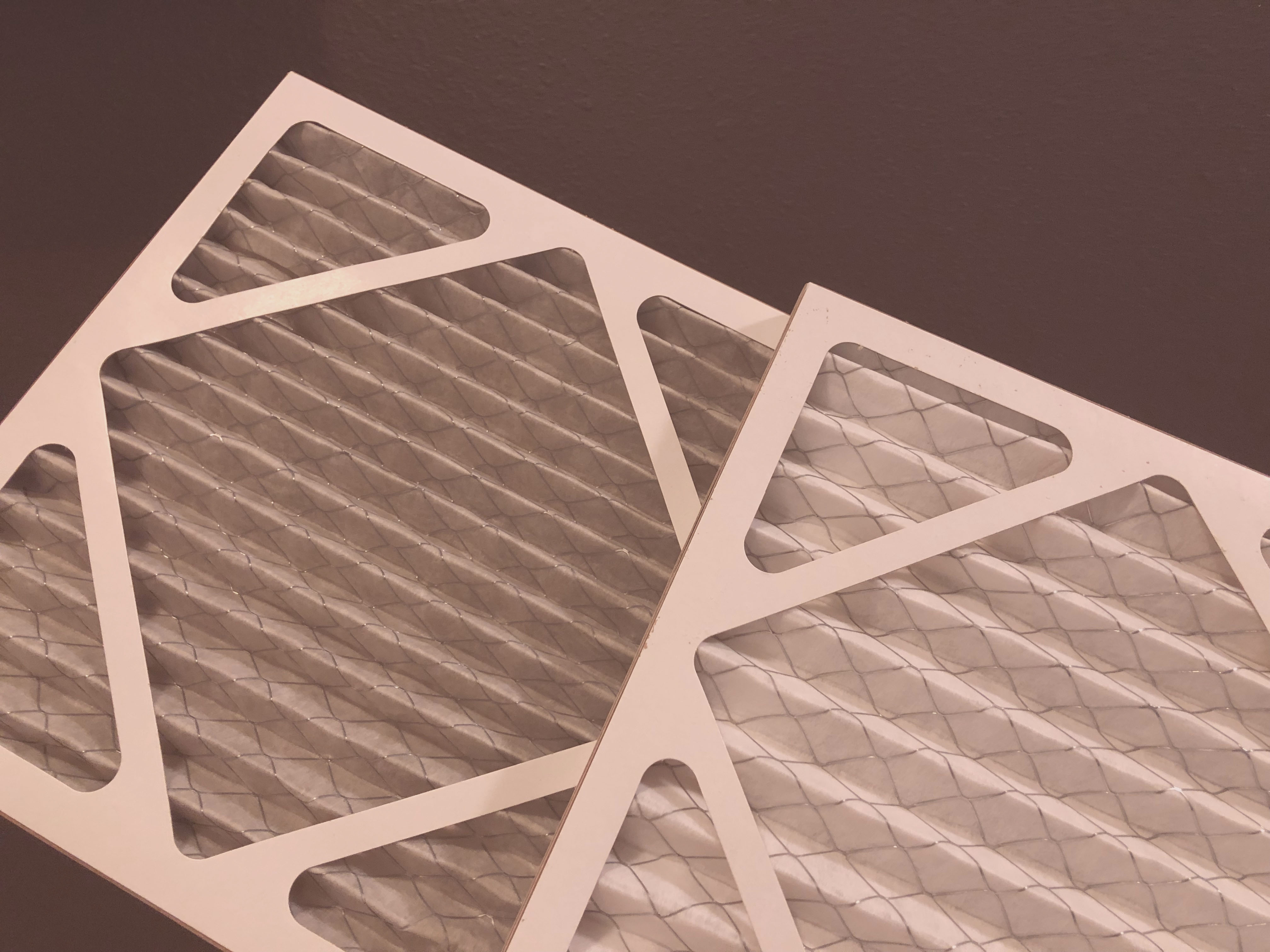 Air filters stacked